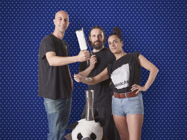 Michel Granpasso Orlando, Valerio Cecchetelli e Arianna Corsetti